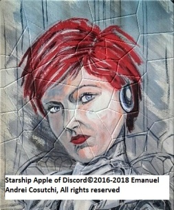 Starship Apple of Discord©2018 Emanuel Andrei Cosutchi, All rights reserved